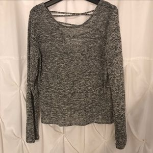H&M grey sweater with strappy back